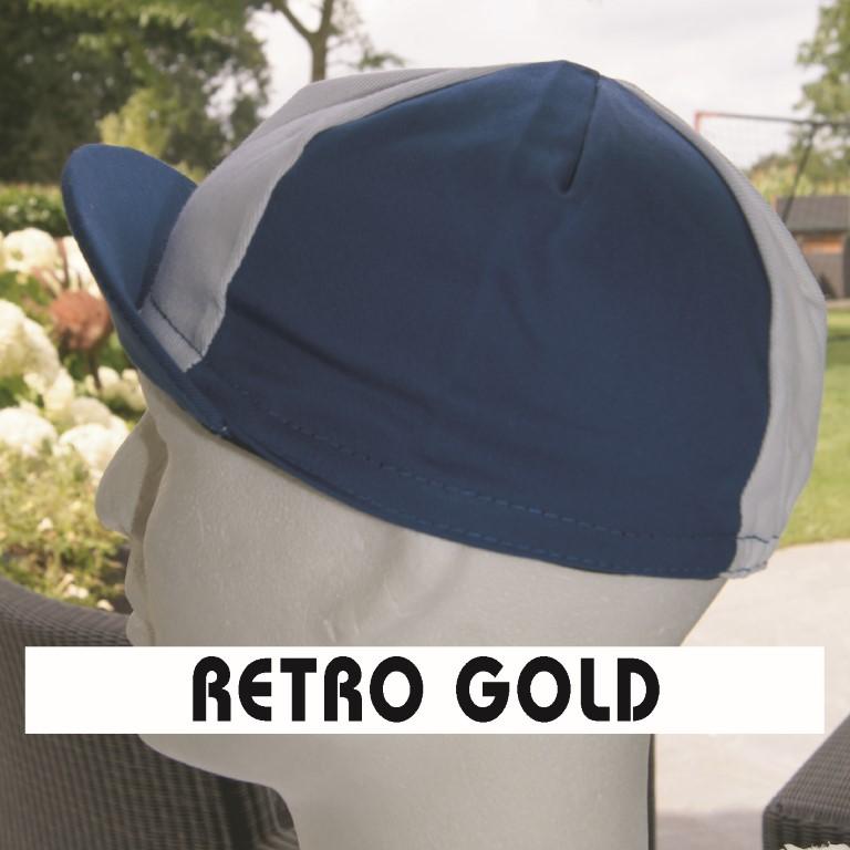 Wielerpetje Retro Gold
